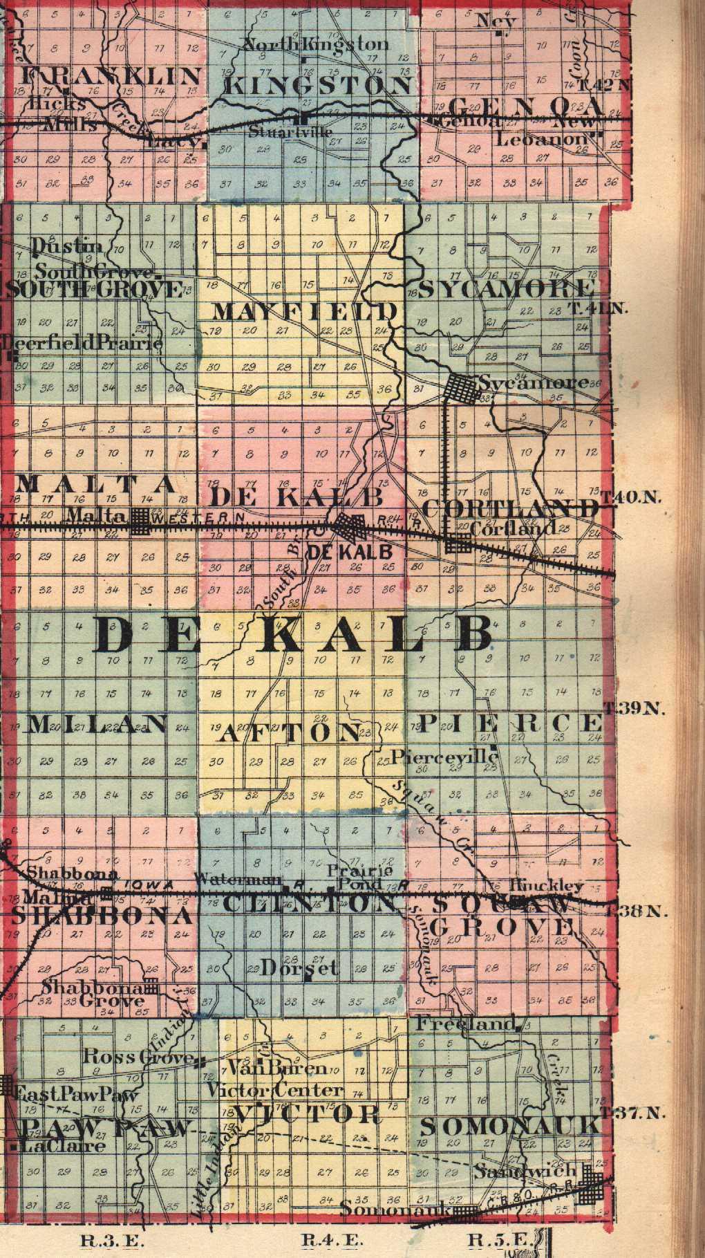 on dekalb county plat map